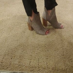 Peep toe booties, 7.5